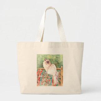"""""""Ragdoll"""" cat Large Tote Bag"""