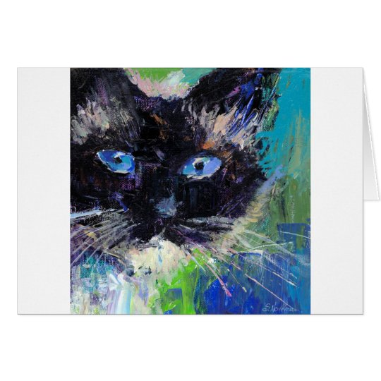 Ragdoll cat painting card