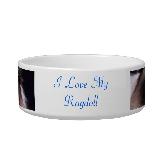 Ragdoll cat pet bowl