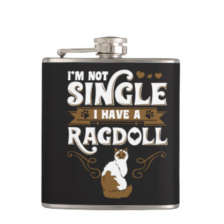 Ragdoll Cat Quotes Hip Flask