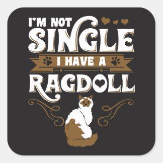 Ragdoll Cat Quotes Square Sticker