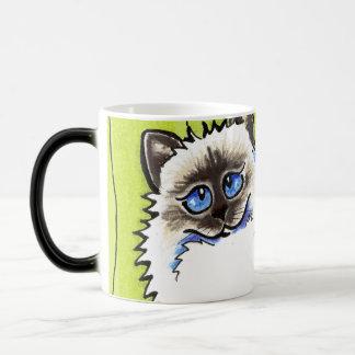 Ragdoll Cats Pair of Dolls Off-Leash Art™ Magic Mug