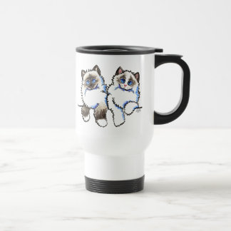 Ragdoll Cats Pair of Dolls Off-Leash Art™ Travel Mug
