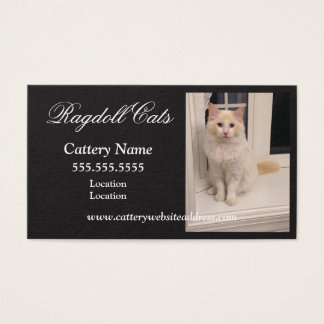 Ragdoll Cattery Business Cards - Black w White