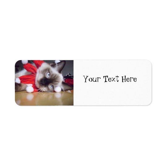 Ragdoll Christmas Return Address Label