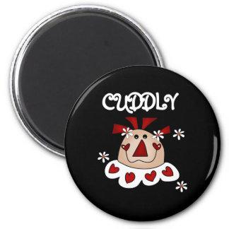 Ragdoll Cuddly Valentine 6 Cm Round Magnet