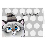 Ragdoll Cutie Face Kitten Greeting Card