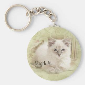 Ragdoll keychain green