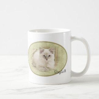 Ragdoll mug green