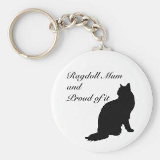 Ragdoll Mum Key Ring