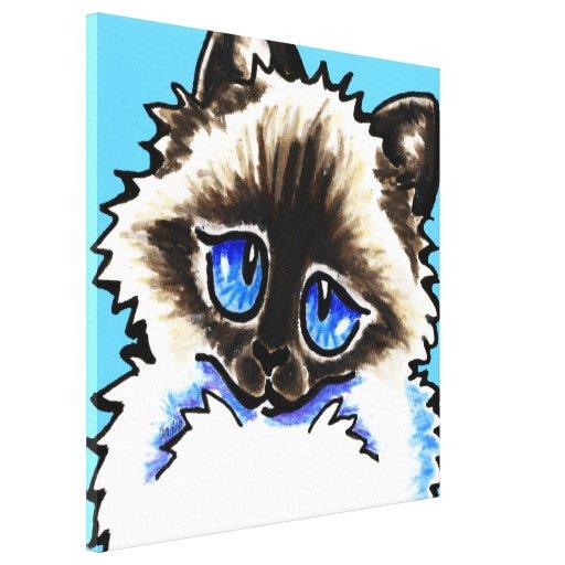 Ragdoll/Ragamuffin Illustrated - Off-Leash Art™ Gallery Wrap Canvas