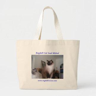 Ragdoll Seal Mitted Jumbo Tote Bag