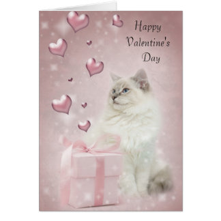 Ragdoll valentine's card