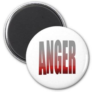rage - anger 6 cm round magnet