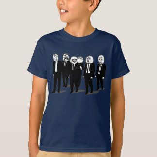 rage comic meme faces walking T-Shirt