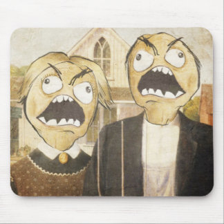 Rage Face Meme Face Comic Classy Painting Mouse Pad