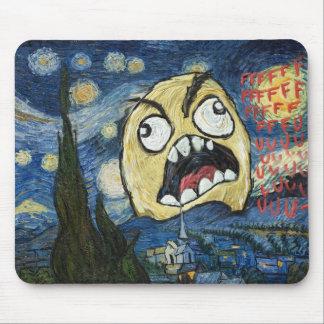 Rage Face Meme Face Comic Classy Painting Mouse Pad