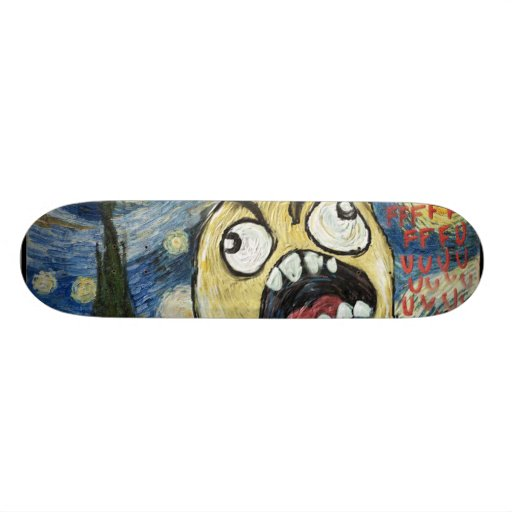 Rage Face Meme Face Comic Classy Painting Skateboard Deck