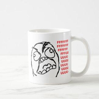 rage face rage comic meme lol rofl basic white mug