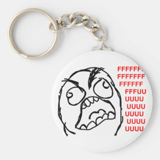 rage face rage comic meme lol rofl key ring