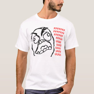 rage face rage comic meme lol rofl T-Shirt