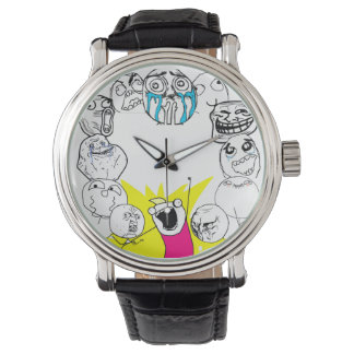 rage faces wrist watch