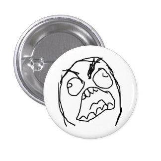 Rage Guy Angry Fuu Fuuu Rage Face Meme 3 Cm Round Badge