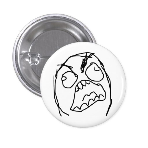Rage Guy Angry Fuu Fuuu Rage Face Meme Pinback Buttons