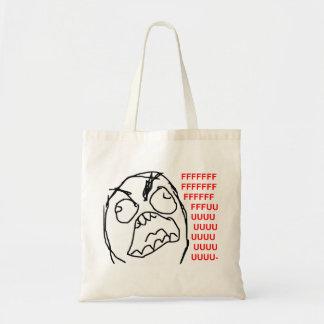 Rage Guy Angry Fuu Fuuu Rage Face Meme Canvas Bags
