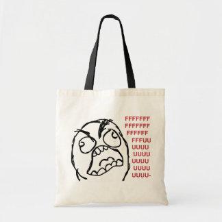Rage guy fuuu fuuuu tote bags