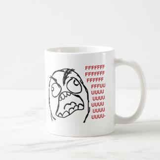 Rage guy fuuu fuuuu basic white mug