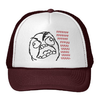 Rage guy fuuu fuuuu trucker hats