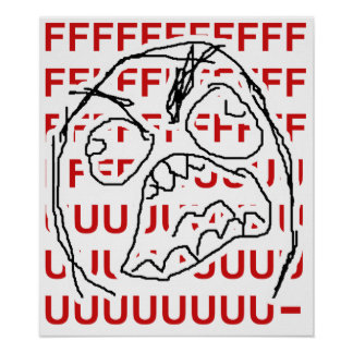 Rage Guy Poster