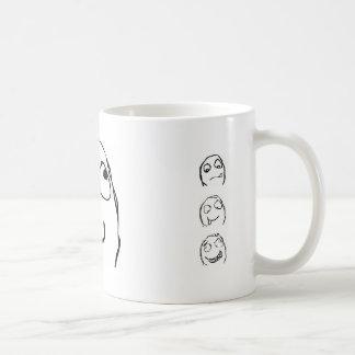 Rage Guy Smile Basic White Mug