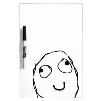 Rage Guy Smile Dry Erase Whiteboards