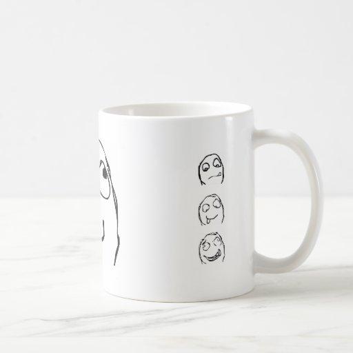 Rage Guy Smile Coffee Mugs