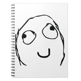 Rage Guy Smile Spiral Notebooks