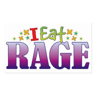 Rage I Eat Pack Of Standard Business Cards