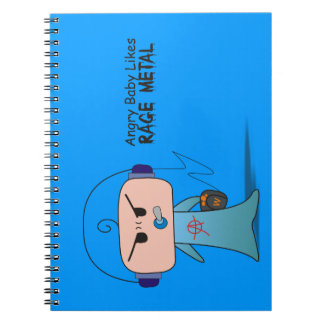 """""""Rage Metal"""" Notebook - An Angry Baby Design"""