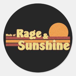 Rage-n-Sunshine Classic Round Sticker
