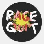 Rage Quit (Dark) Round Sticker
