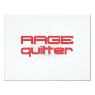 Rage Quitter Gamer 11 Cm X 14 Cm Invitation Card