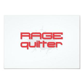 Rage Quitter Gamer 9 Cm X 13 Cm Invitation Card