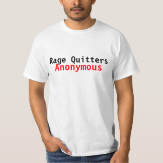 Rage Quitters Anonymous (VideoGame Tee) T-Shirt