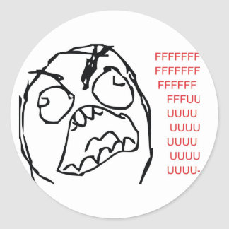 Rage Troll Round Sticker