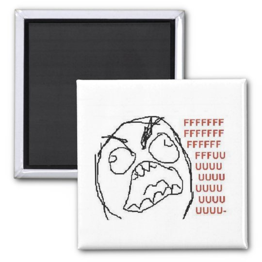 Rageguy fridgemagnet square magnet
