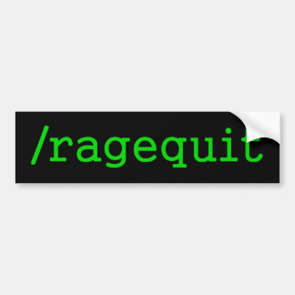 Ragequit Gamer Bumper Sticker