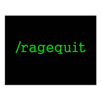 Ragequit Gamer Postcard