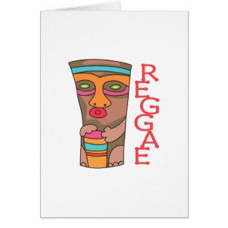 RAGGAE MUSIC GREETING CARD