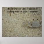 Ragged Crab Claws Poem Print
